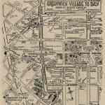 1925 Hand-Drawn Map of Greenwich Village