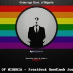 Nigerian Government's Website Hit by Pro-Gay Hackers