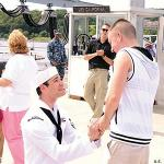 Gay Sailor Celebrates His Homecoming With A Proposal