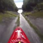 Daredevil Kayaker Makes 34 MPH Plunge Down Drainage Ditch: VIDEO