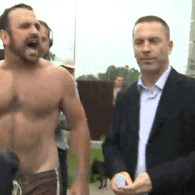 Beefy Shirtless Jogger Stops Toronto Mayor Rob Ford, Takes Him To Task: VIDEO