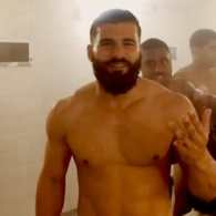 Australian Rugby Player Josh Mansour Gets an Ice Bath in a Speedo: VIDEO