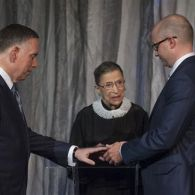Ruth Bader Ginsburg Subtly Emphasizes Constitutionality of Same-Sex Marriage While Officiating Gay Wedding