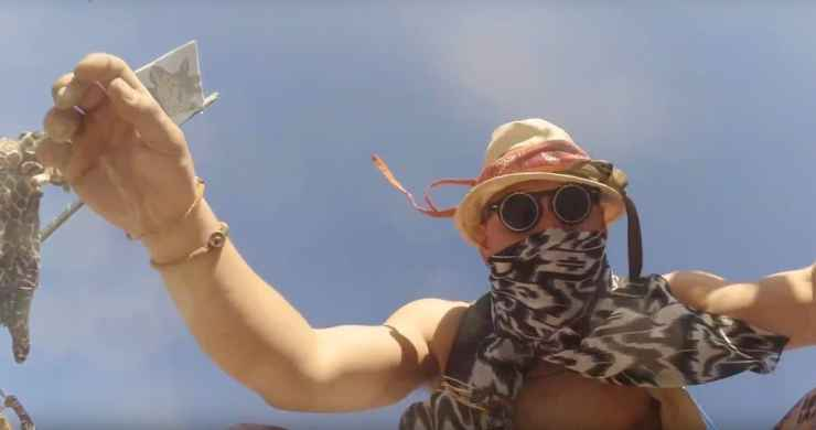 GoPro Falls Off Drone into Burning Man Dance Floor