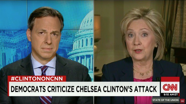 Jake Tapper Hillary Clinton grilled