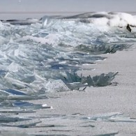ice stacking lake superior
