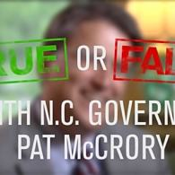 True or False Pat McCrory