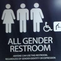 ransgender bathrrom sign