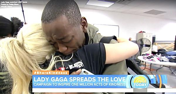 Lady Gaga surprises homeless lgbt teens