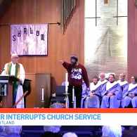 Homophobe Disrupts Church Service, Accosts Openly Gay Pastor: WATCH