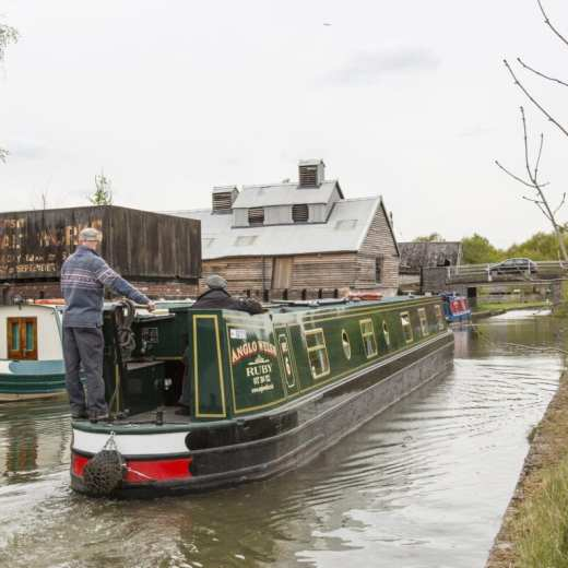 Canal shot with Lion Salt Works