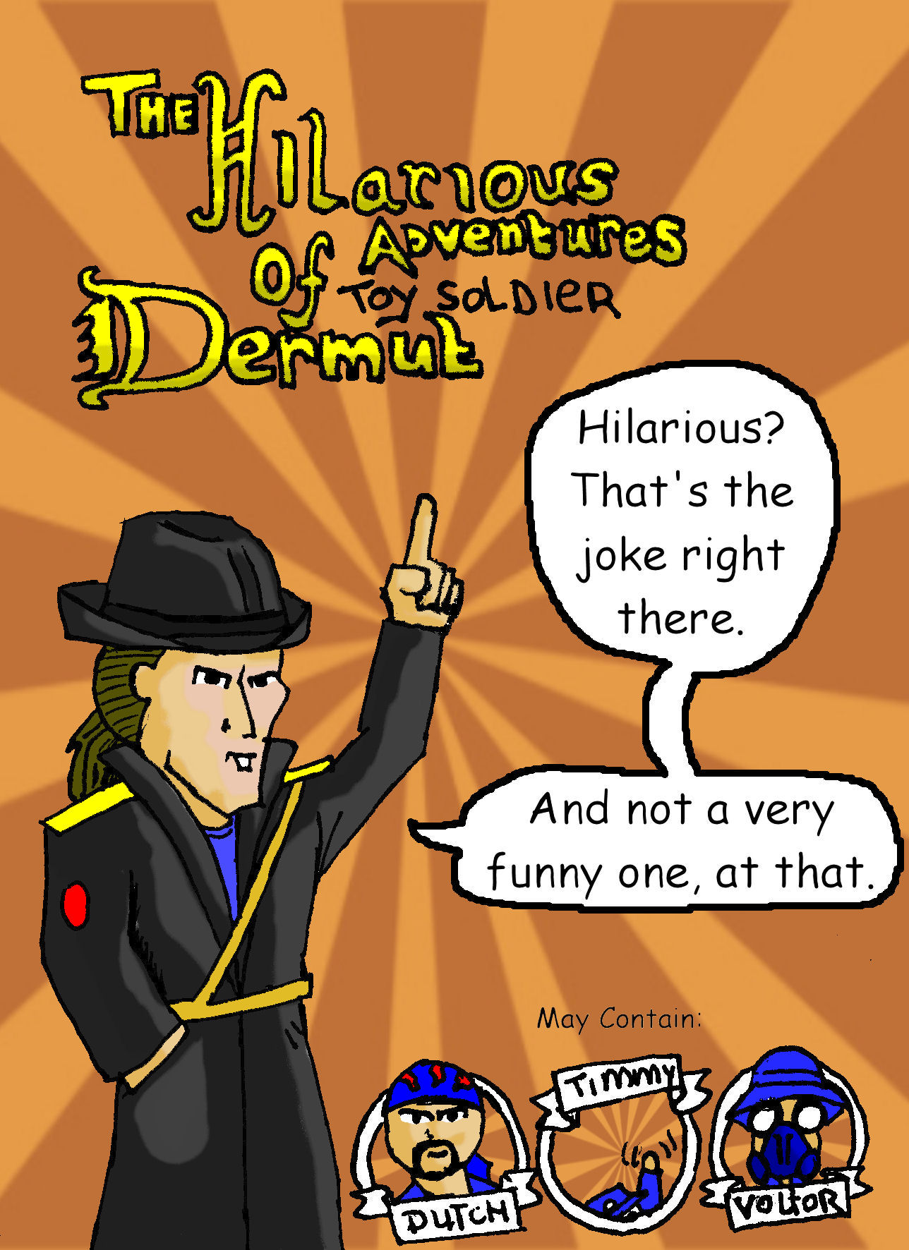 The Hilarious Adventures of Toy Soldier Dermut Cover