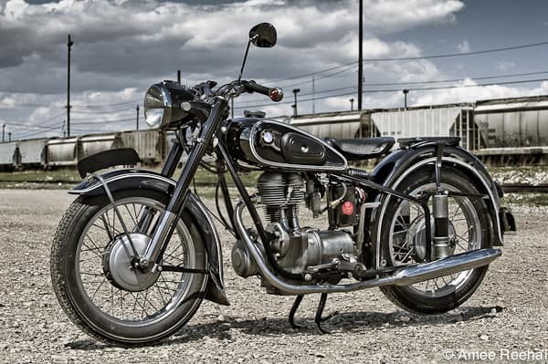 1954 BMW R25 tail pipe