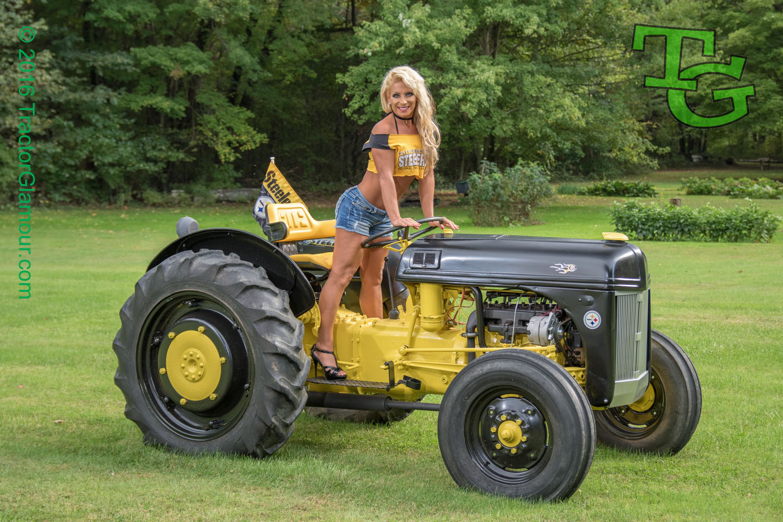 nude women on tractor