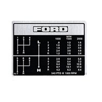 Ford Tractor Shift Pattern Decal for 2000 and 3000 Tractors