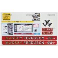 Massey Ferguson MF 35 Deluxe Hood Decal Set
