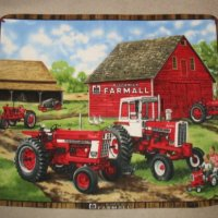 Farmall Tractor International Harvester Fleece Throw Blanket