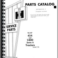 International Harvester 454 Tractor Parts Manual