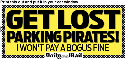 Print This Daily Mail Sign For Your Car!