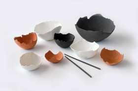 Rip Torn and Egg Shell Bowls - Tracy Muirhead