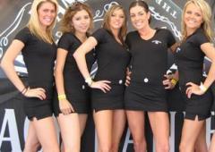trade show models, hire promo models
