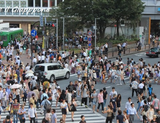 Shibuya Crossing. Foto scattata da Starbucks