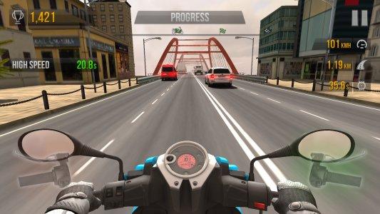 Traffic rider, videojuego de velocidad