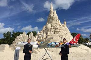 """ターキッシュ・エアラインズ、マイアミ就航を記念し""""世界一高い砂の城""""のギネスに挑戦"""