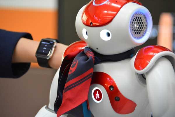 「富士山どっち?」ロボットが回答 JAL、羽田空港でサービスロボットの実証実験開始