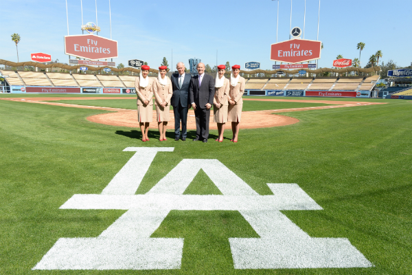 Emirates-and-LA-Dodgers-Press-Conference---Dodger-Stadium-Field