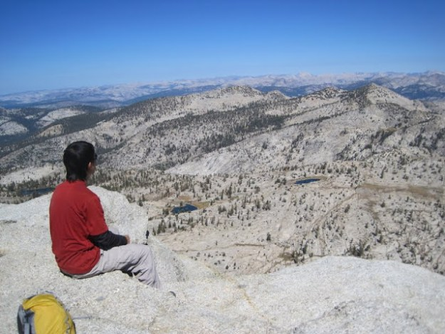The Northern Yosemite wilderness from the summit of Mount Hoffmann