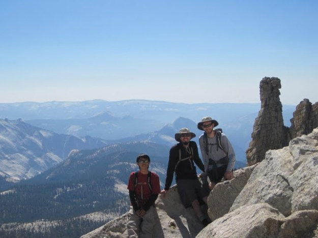 Hoffmann Thumb and Yosemite Valley from near the summit of Mount Hoffmann