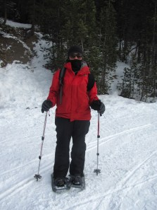 Jinelle Snowshoeing