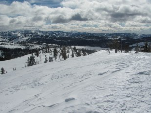 The view South from the summit of Andesite Ridge