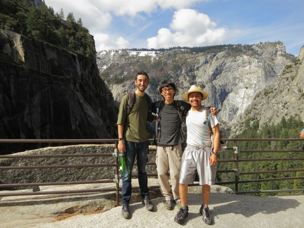 Jon, Luis, and me at the top of Vernal Falls