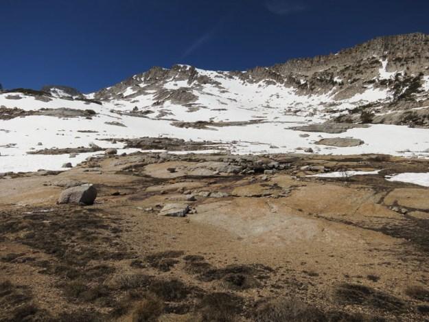 Vogelsang Peak as seen from Vogelsang Lake