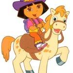 Tô màu theo chủ đề: Bé chăm sóc ngựa