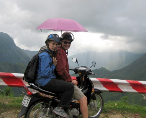 Alright, you caught me - this one is from a day exploring Vietnam by scooter. Everyone needs a pink umbrella while scootering...