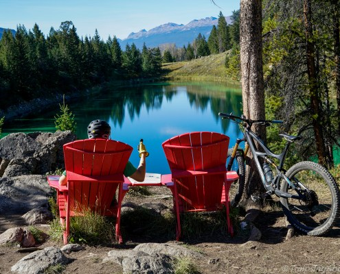 Leave your furniture behind and enjoy the free chairs in the Valley of Five Lakes in Jasper.