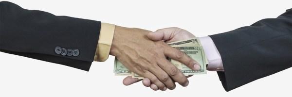 Accept bribe picture