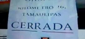 Transportistas celebran retiro de garita del 26 en carretera de Nuevo Laredo