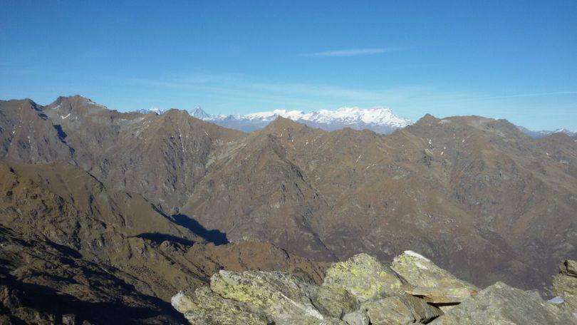 La catena del Monte Rosa vista dalle nostre montagne (Cima La Rubbia, 2427 m s.l.m)