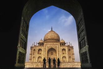 Taj Mahal in Agra, India, by Dave and Deb Bouskill