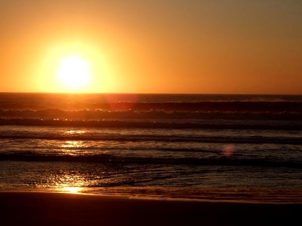Sonnenuntergang Surfurlaub Portugal