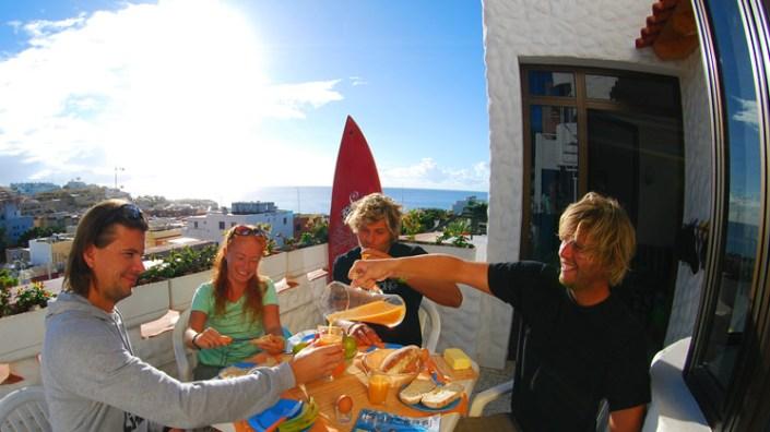 Frühstück Surfschule Morro Jable Fuerteventura
