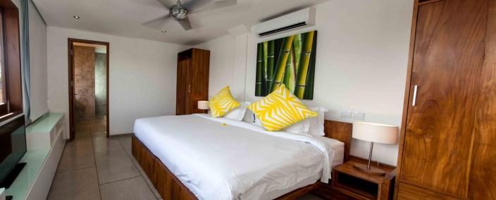 Schlafzimmer in der Surf Villa