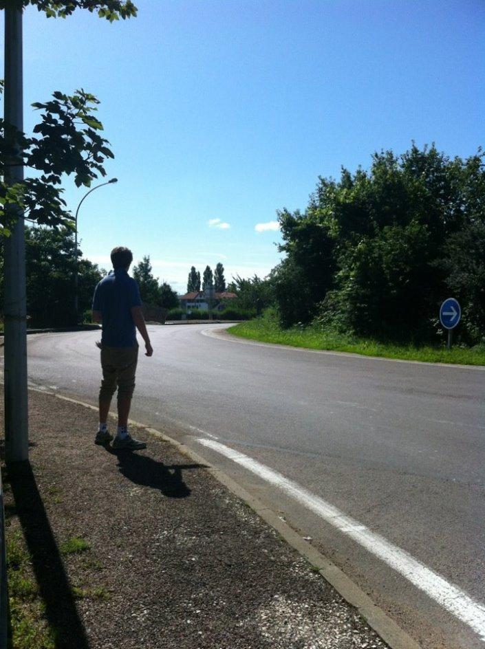 I hitchhiked to Paris