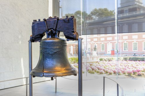 The Liberty Bell has grand historical importance - it was rung to declare independence, or something. But it is really just a cracked bell. The symbolism is interesting. On a related note, Taco Bell is delicious.