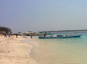 The main diving beach in Gili T
