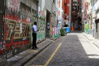 Melbourne is a labyrinth of colourfully graffitied laneways, some hiding mysterious restaurants or shading salubrious deals; others just full of rubbish bins.